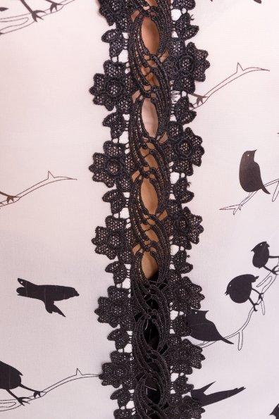 Топ Алиссе 7409 Цвет: Птички молоко/черный