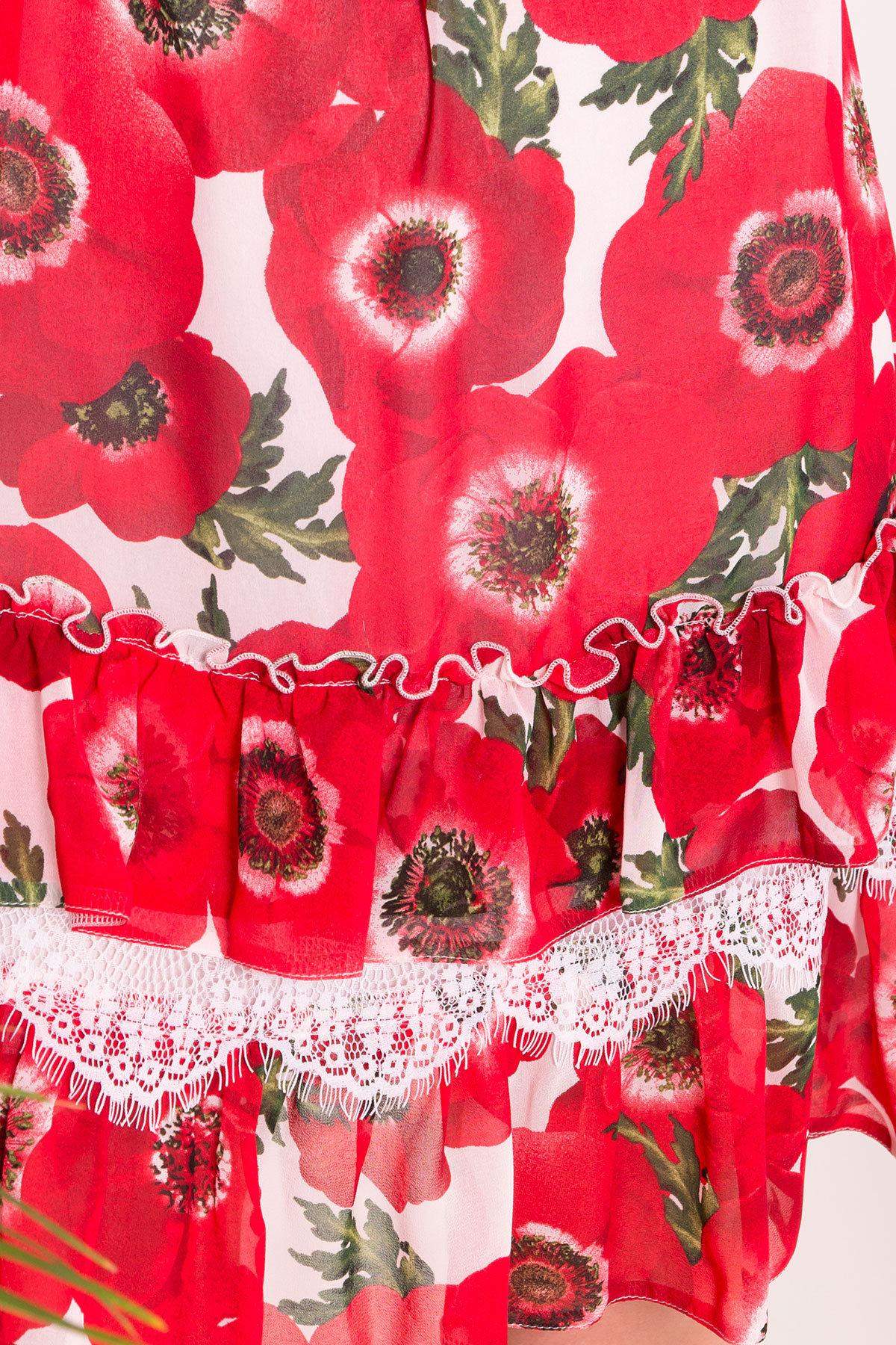 Платье Нектар 6916 АРТ. 43268 Цвет: Маки молоко - фото 4, интернет магазин tm-modus.ru