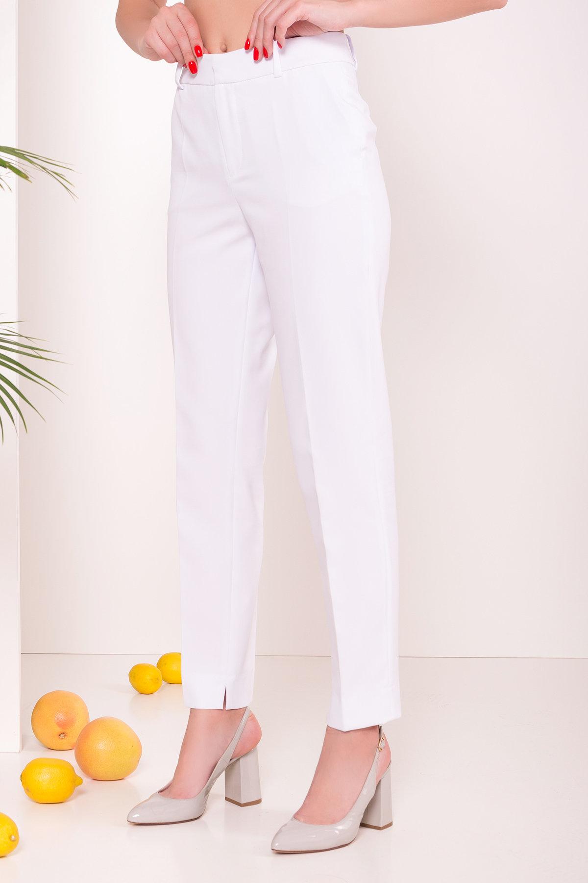 Базовые брюки со стрелками Эдвин 2467 АРТ. 14913 Цвет: Белый - фото 3, интернет магазин tm-modus.ru