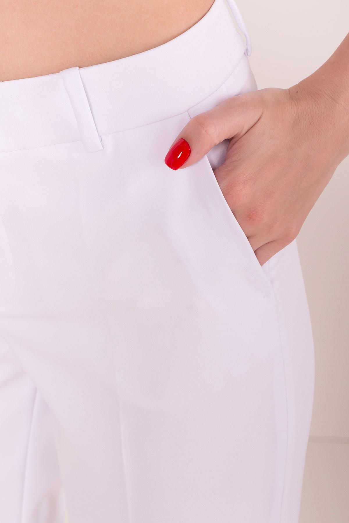 Базовые брюки со стрелками Эдвин 2467 АРТ. 14913 Цвет: Белый - фото 4, интернет магазин tm-modus.ru