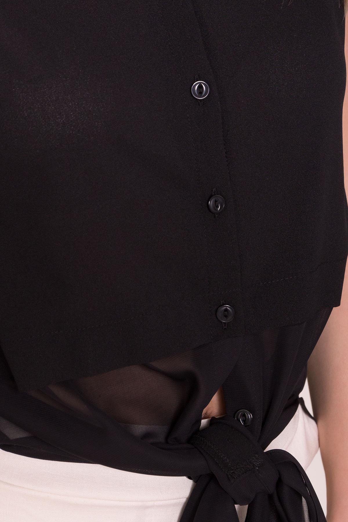 Рубашка без рукавов Дива 7532 АРТ. 43441 Цвет: Черный - фото 4, интернет магазин tm-modus.ru