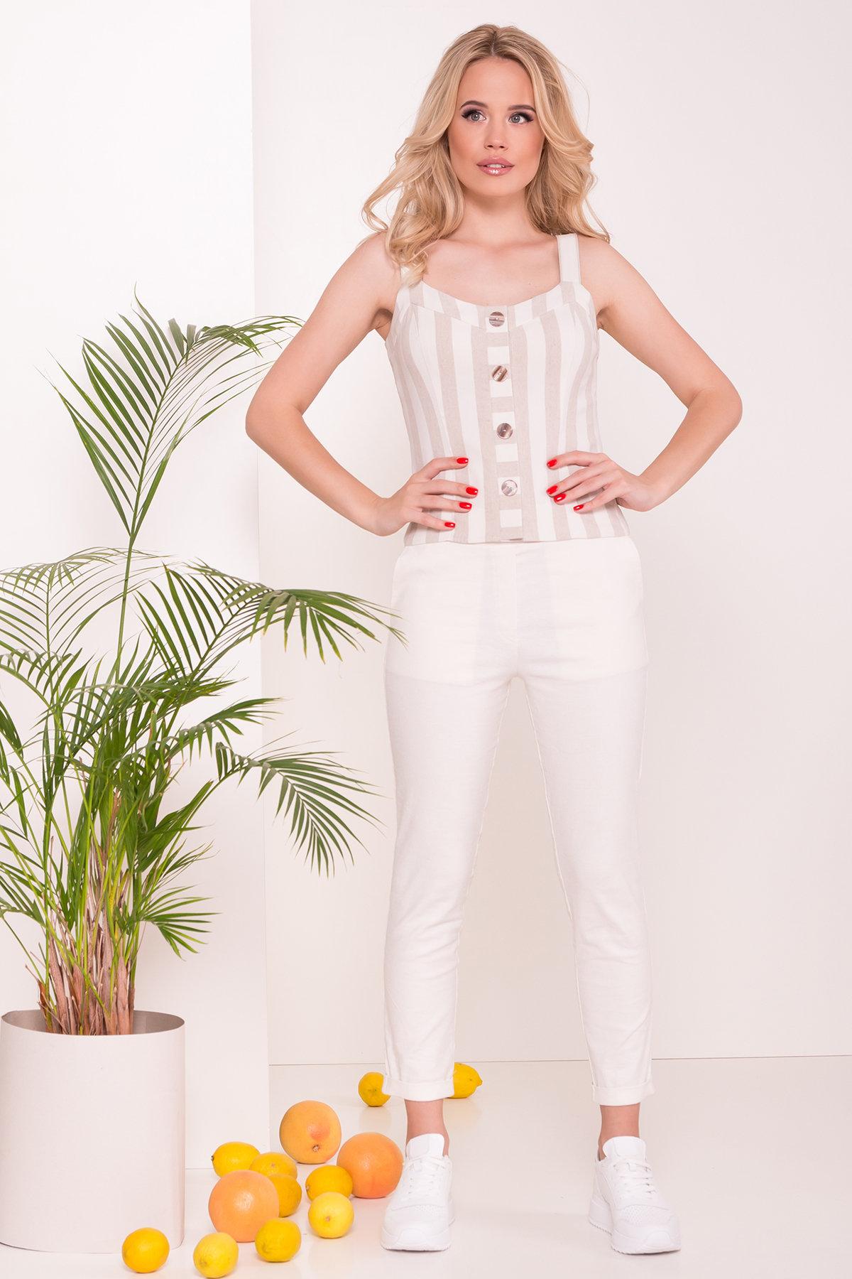 женские брюки в Украине Зауженные укороченные Брюки Линдос  7539
