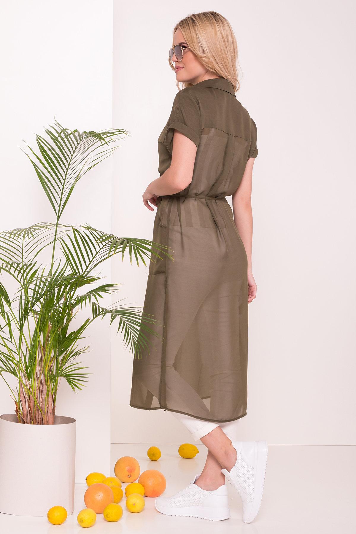 Платье-рубашка Эриал 7544 АРТ. 43466 Цвет: Хаки - фото 2, интернет магазин tm-modus.ru