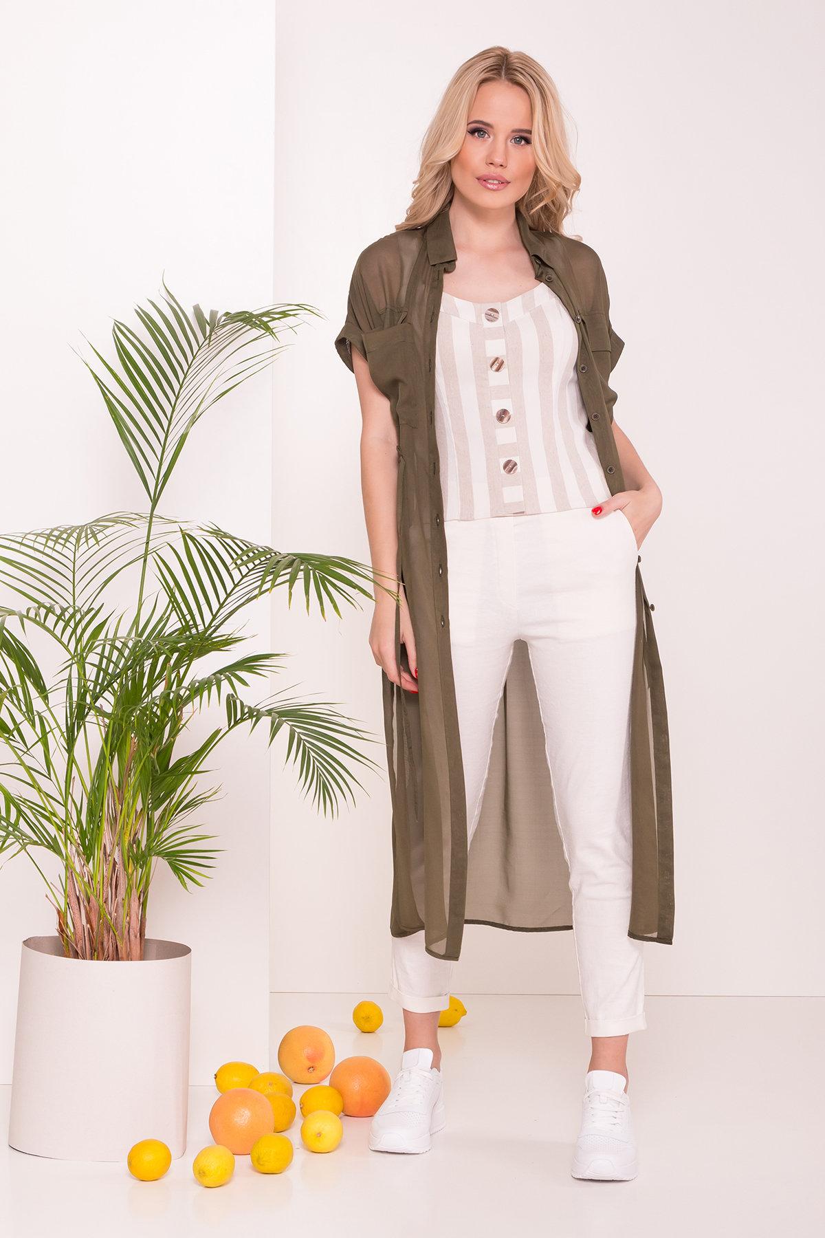 Платье-рубашка Эриал 7544 АРТ. 43466 Цвет: Хаки - фото 4, интернет магазин tm-modus.ru
