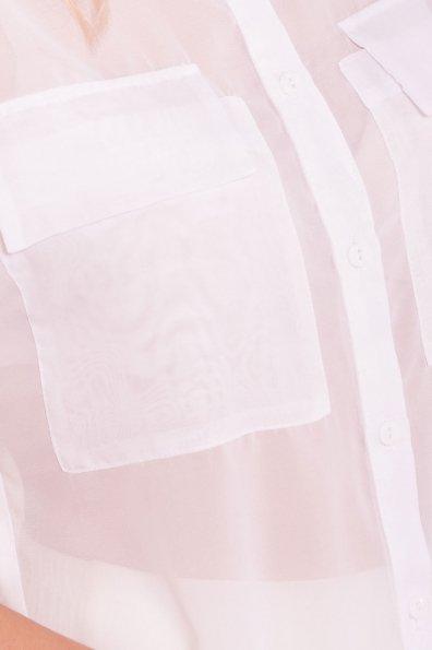 Шифоновая Рубашка Айра 7456 Цвет: Белый