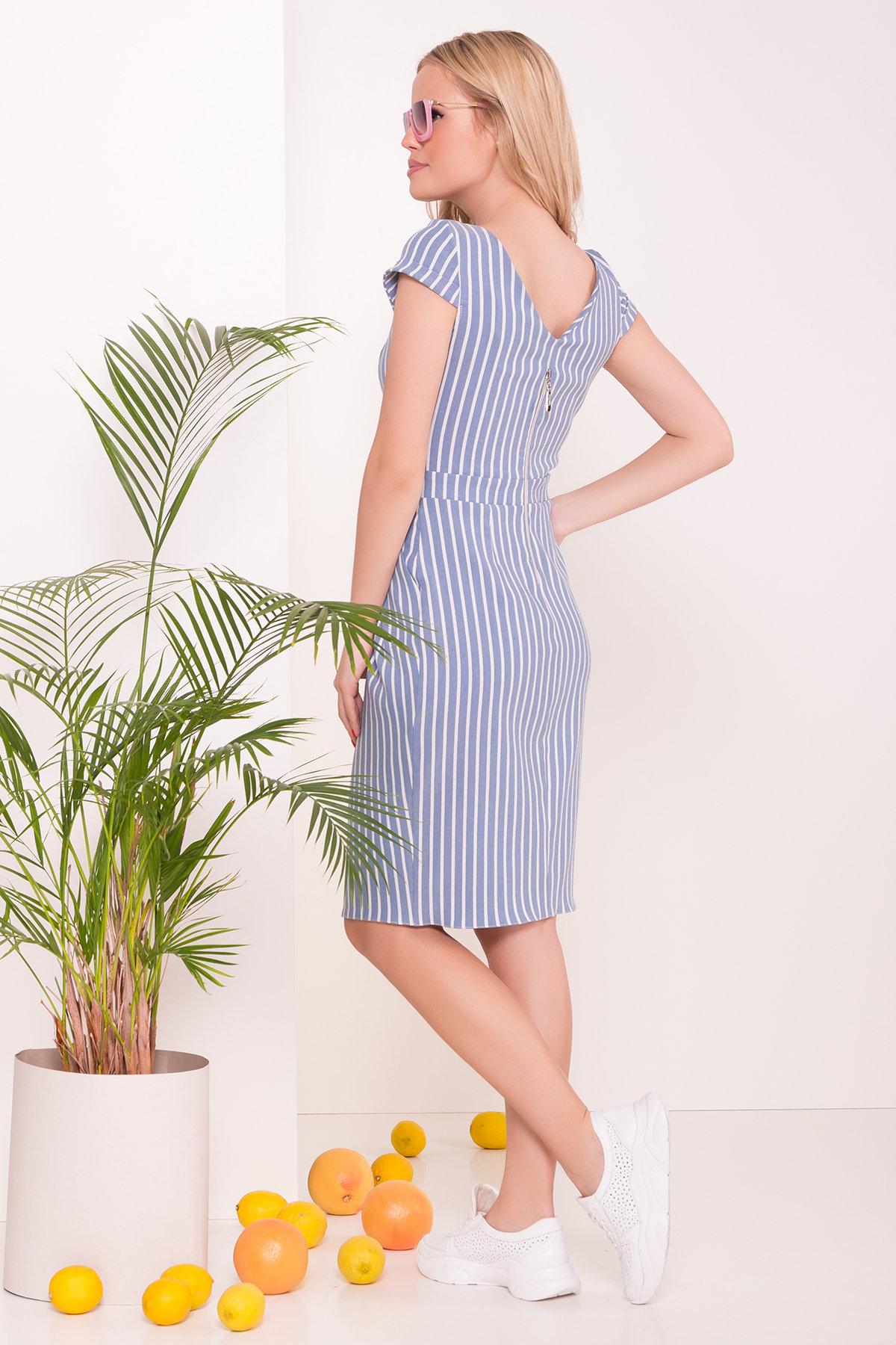 Платье Марсель 7527 Цвет: Полоска мол/голуб