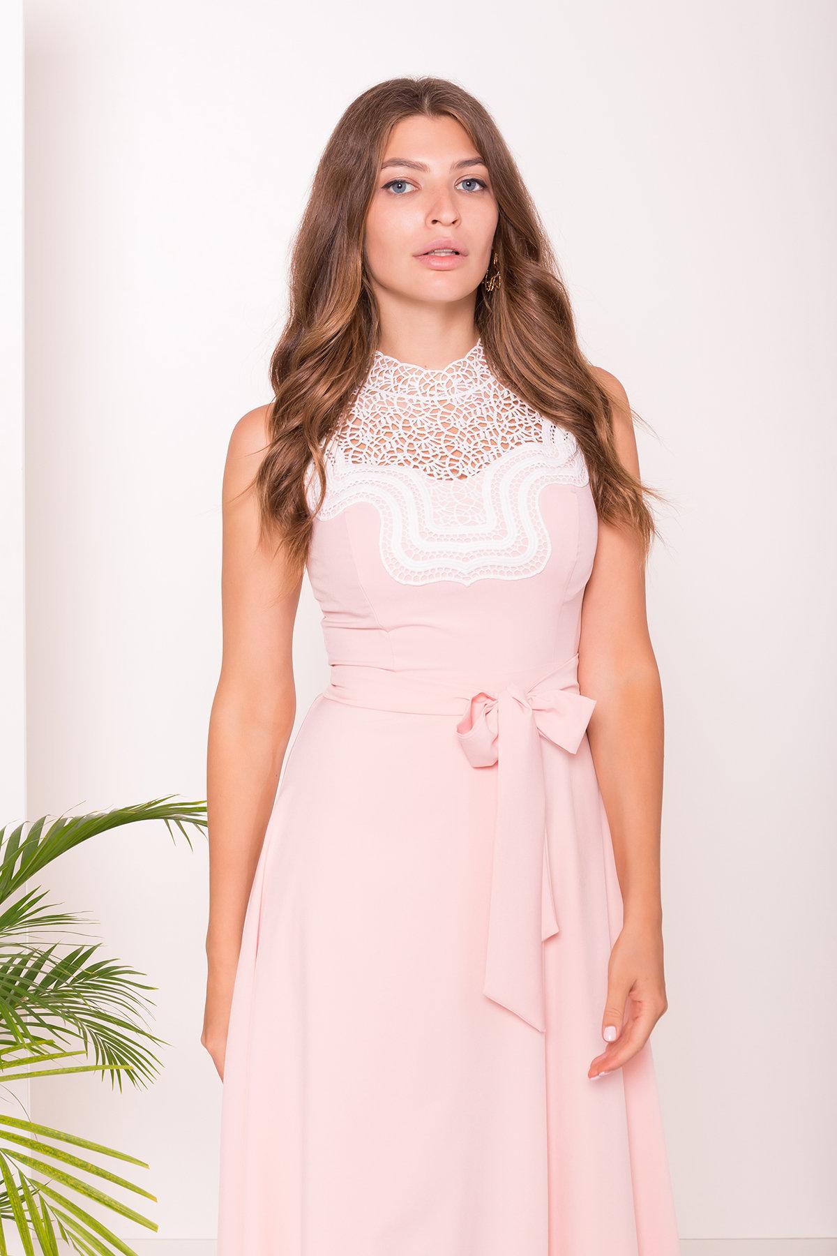 Платье Элисиас 7540 АРТ. 43463 Цвет: Персик - фото 3, интернет магазин tm-modus.ru