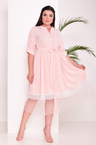 Платье Паула Donna 6937 Цвет: Пудра 7