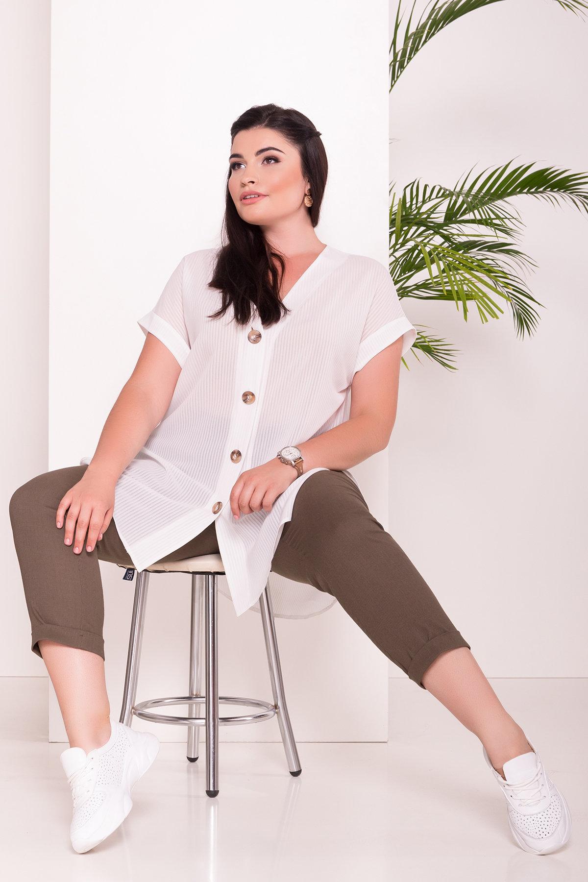 одежда больших размеров интернет магазин Блуза свободного кроя Алла DОNNA 7470
