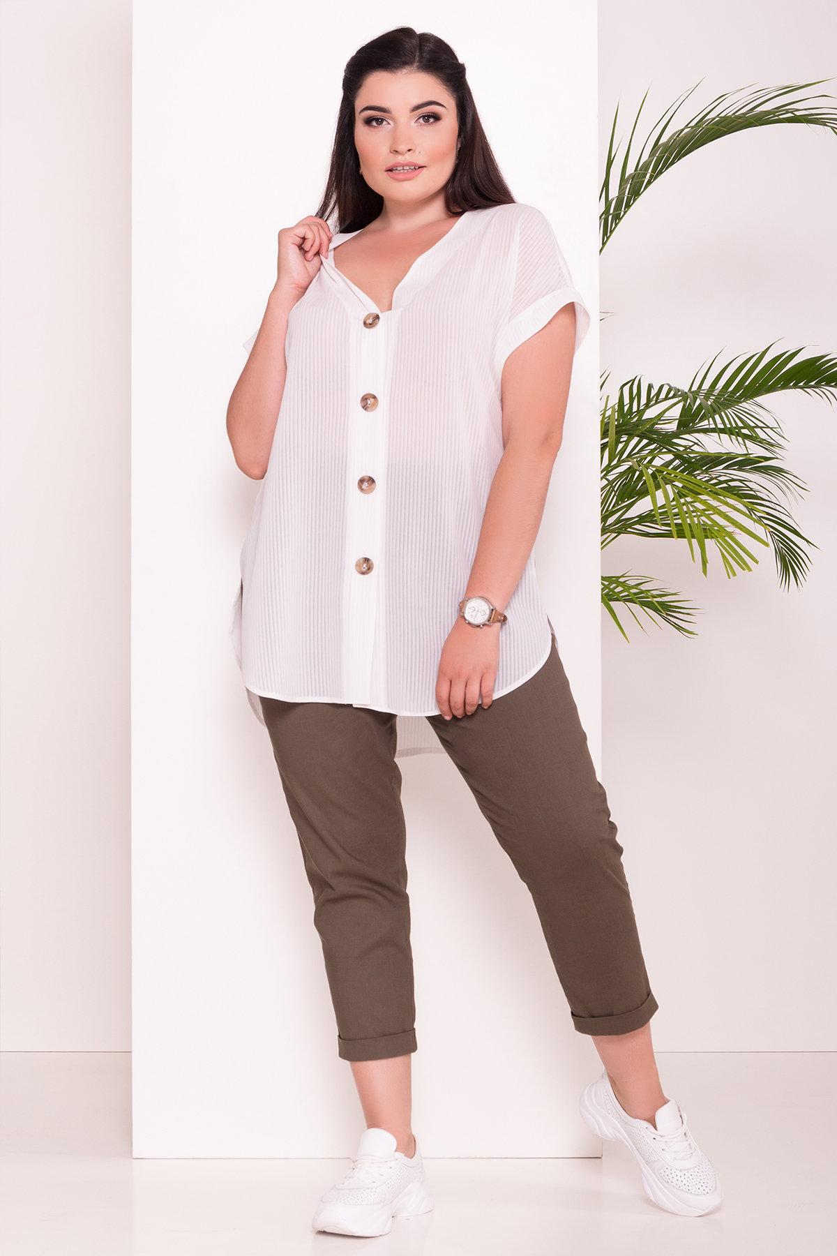 Блуза свободного кроя Алла DОNNA 7470 АРТ. 43286 Цвет: Полоска/молоко - фото 2, интернет магазин tm-modus.ru