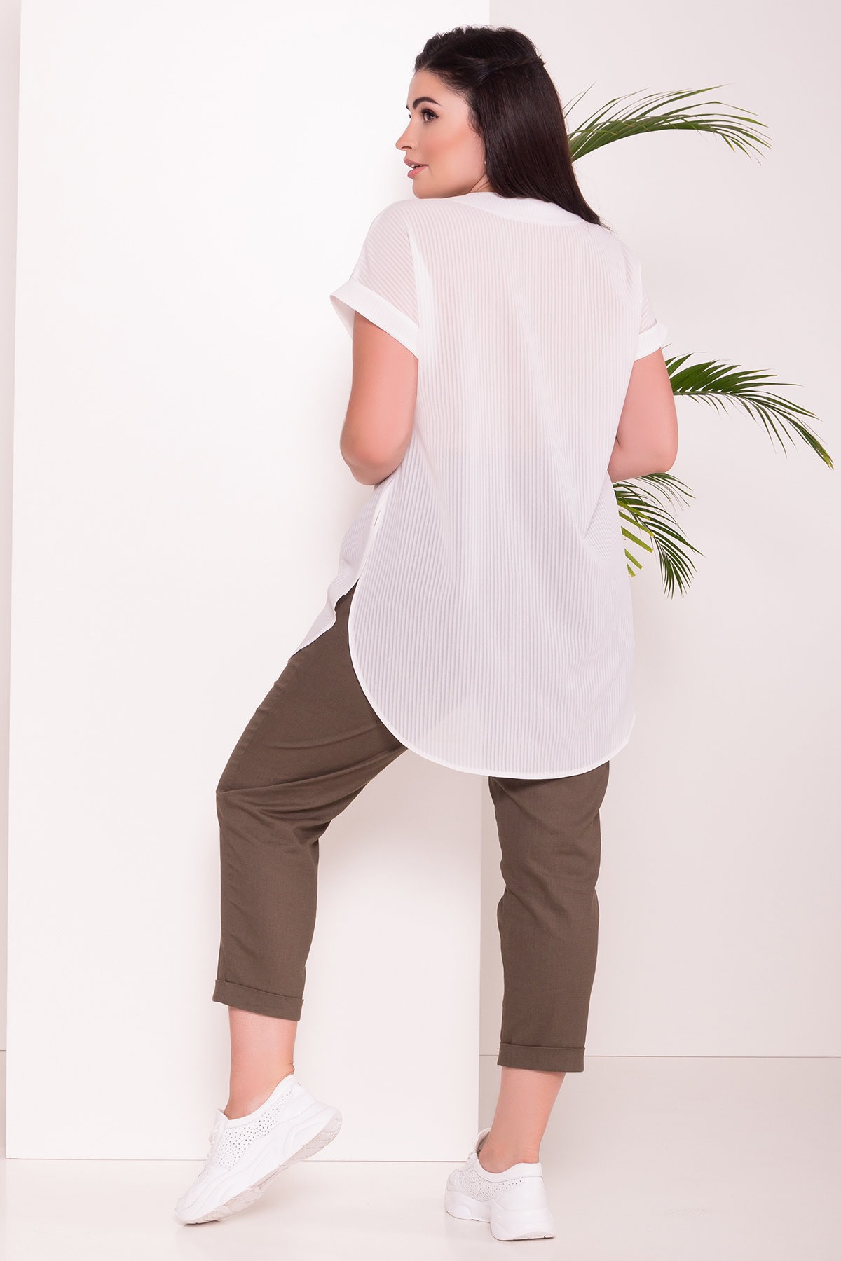 Блуза свободного кроя Алла DОNNA 7470 АРТ. 43286 Цвет: Полоска/молоко - фото 3, интернет магазин tm-modus.ru