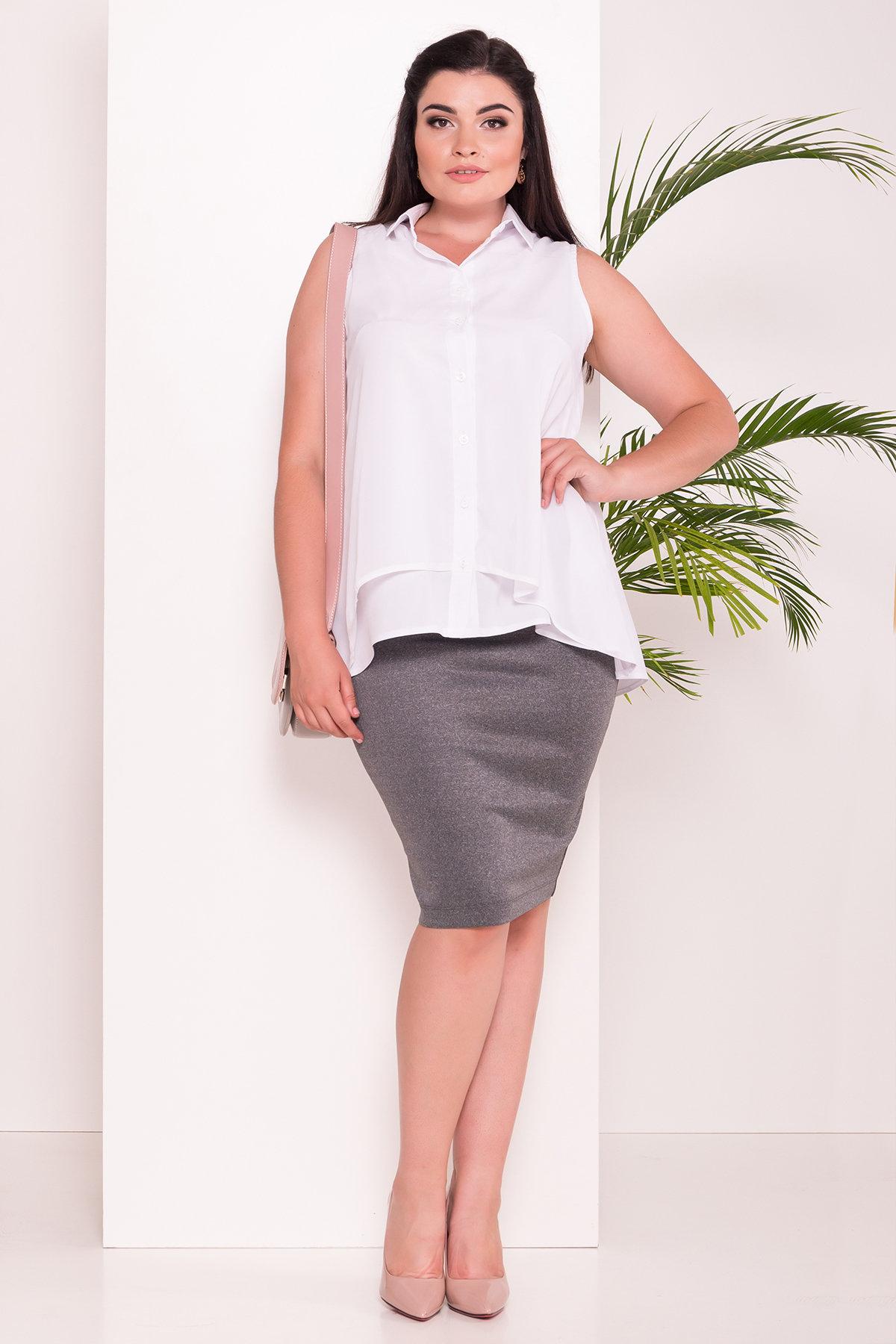 Рубашка Мелория Donna 7521 АРТ. 43455 Цвет: Белый - фото 4, интернет магазин tm-modus.ru