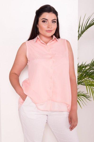 Удлиненная Рубашка Мелория Donna 7521 Цвет: Пудра Светлая