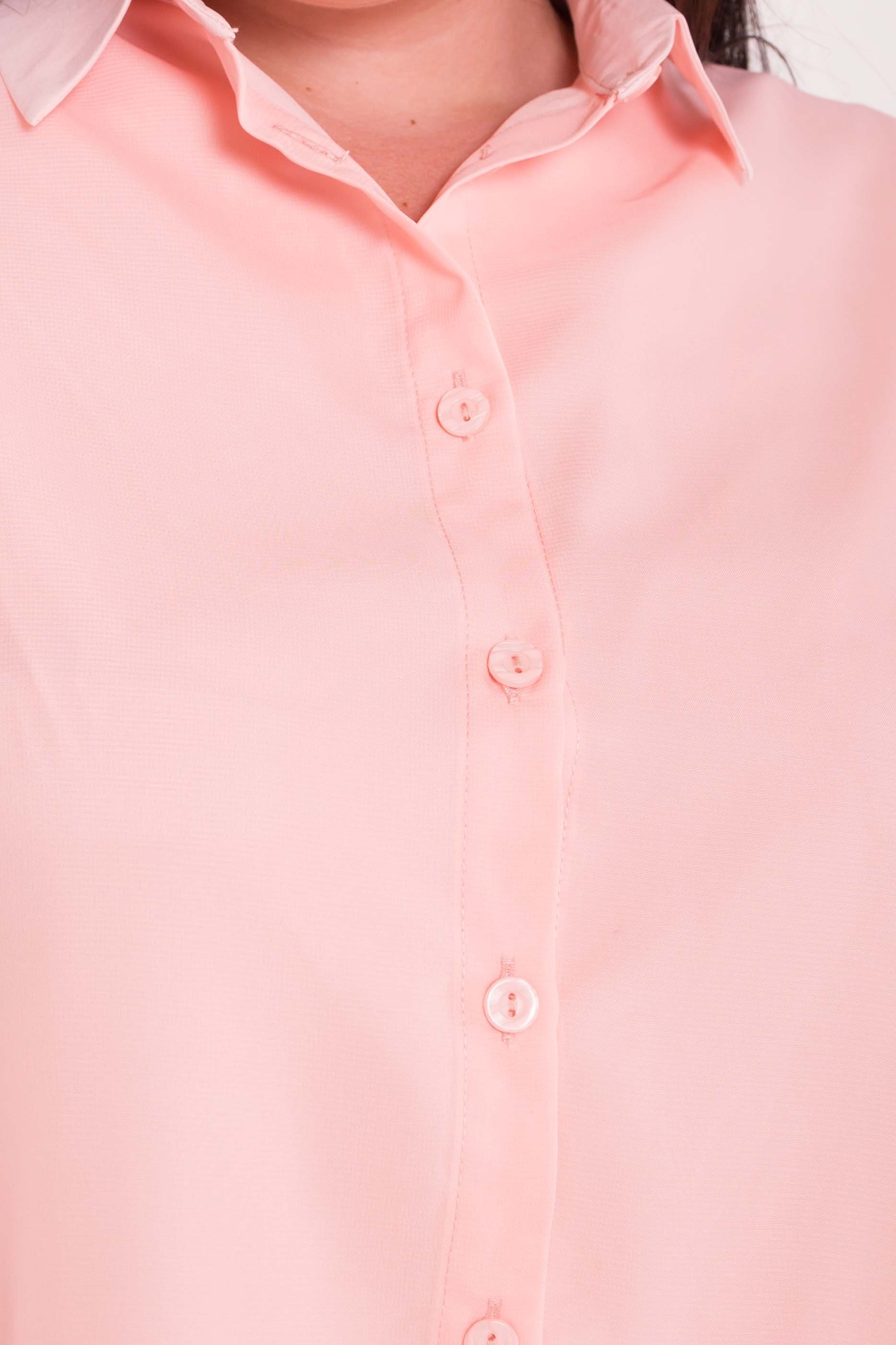 Удлиненная Рубашка Мелория Donna 7521 АРТ. 43456 Цвет: Пудра Светлая - фото 5, интернет магазин tm-modus.ru