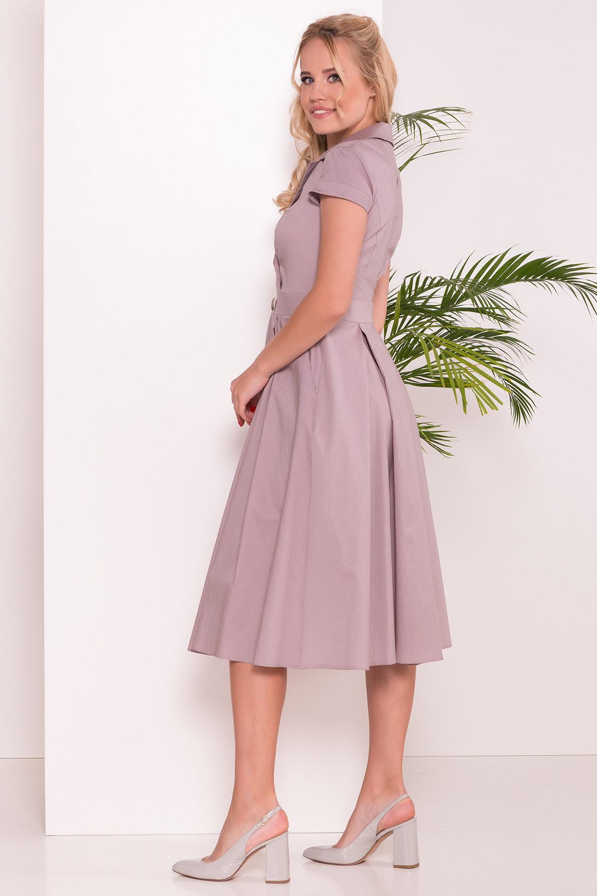 Платье Артего 7440 АРТ. 43226 Цвет: Бежевый - фото 2, интернет магазин tm-modus.ru