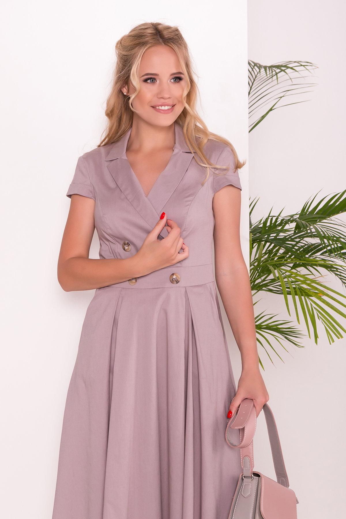 Платье Артего 7440 АРТ. 43226 Цвет: Бежевый - фото 3, интернет магазин tm-modus.ru