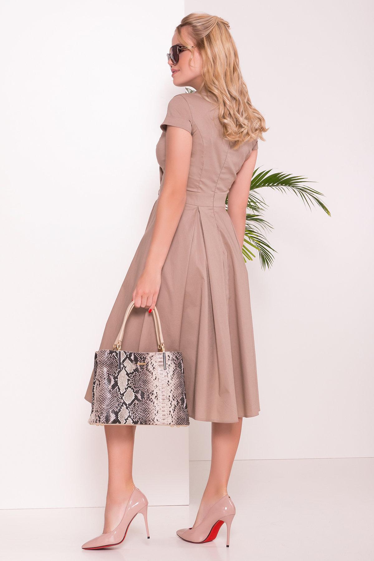 Платье Артего 7440 АРТ. 43452 Цвет: Бежевый 3 - фото 2, интернет магазин tm-modus.ru