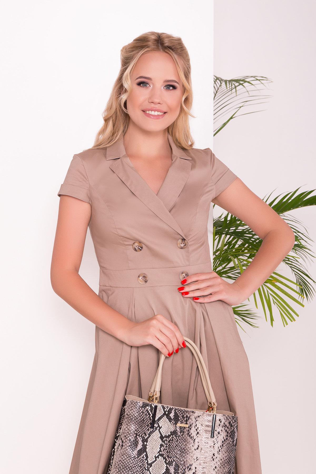 Платье Артего 7440 АРТ. 43452 Цвет: Бежевый 3 - фото 3, интернет магазин tm-modus.ru