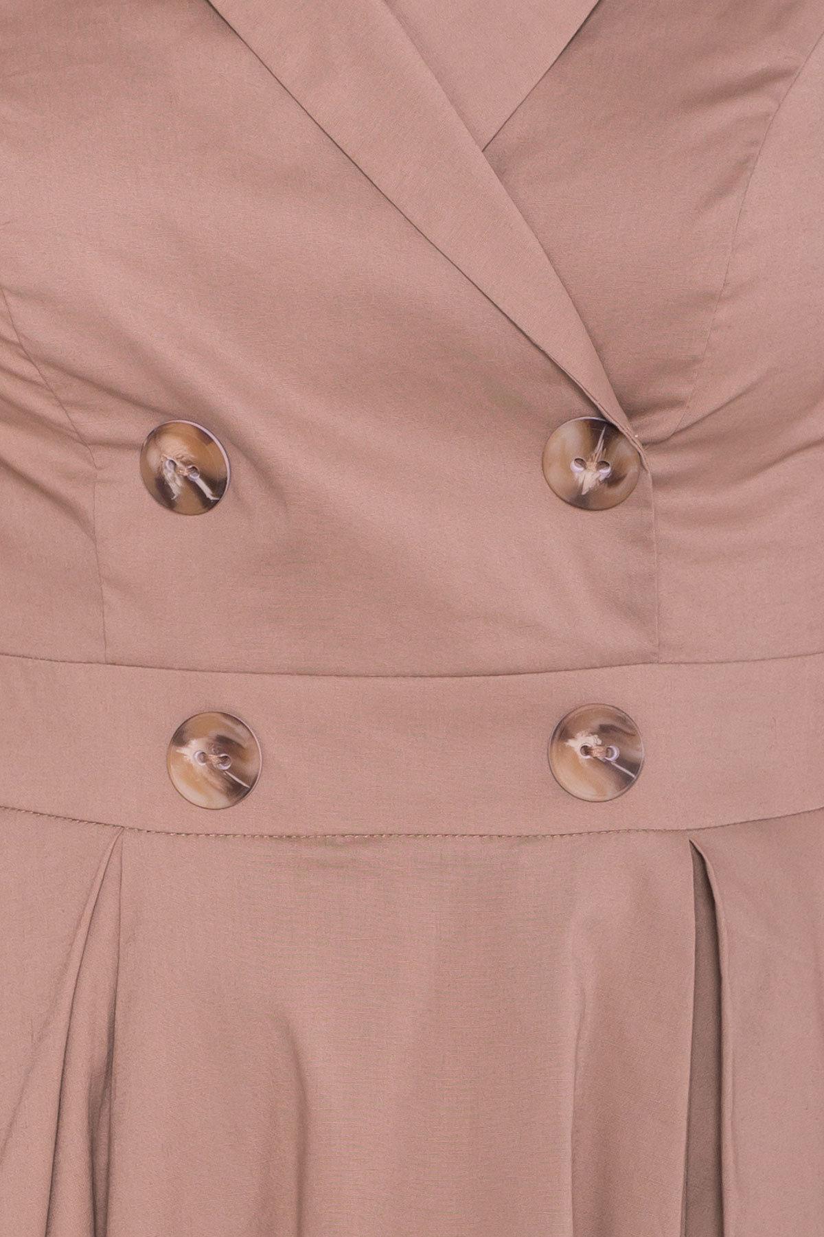 Платье Артего 7440 АРТ. 43452 Цвет: Бежевый 3 - фото 4, интернет магазин tm-modus.ru