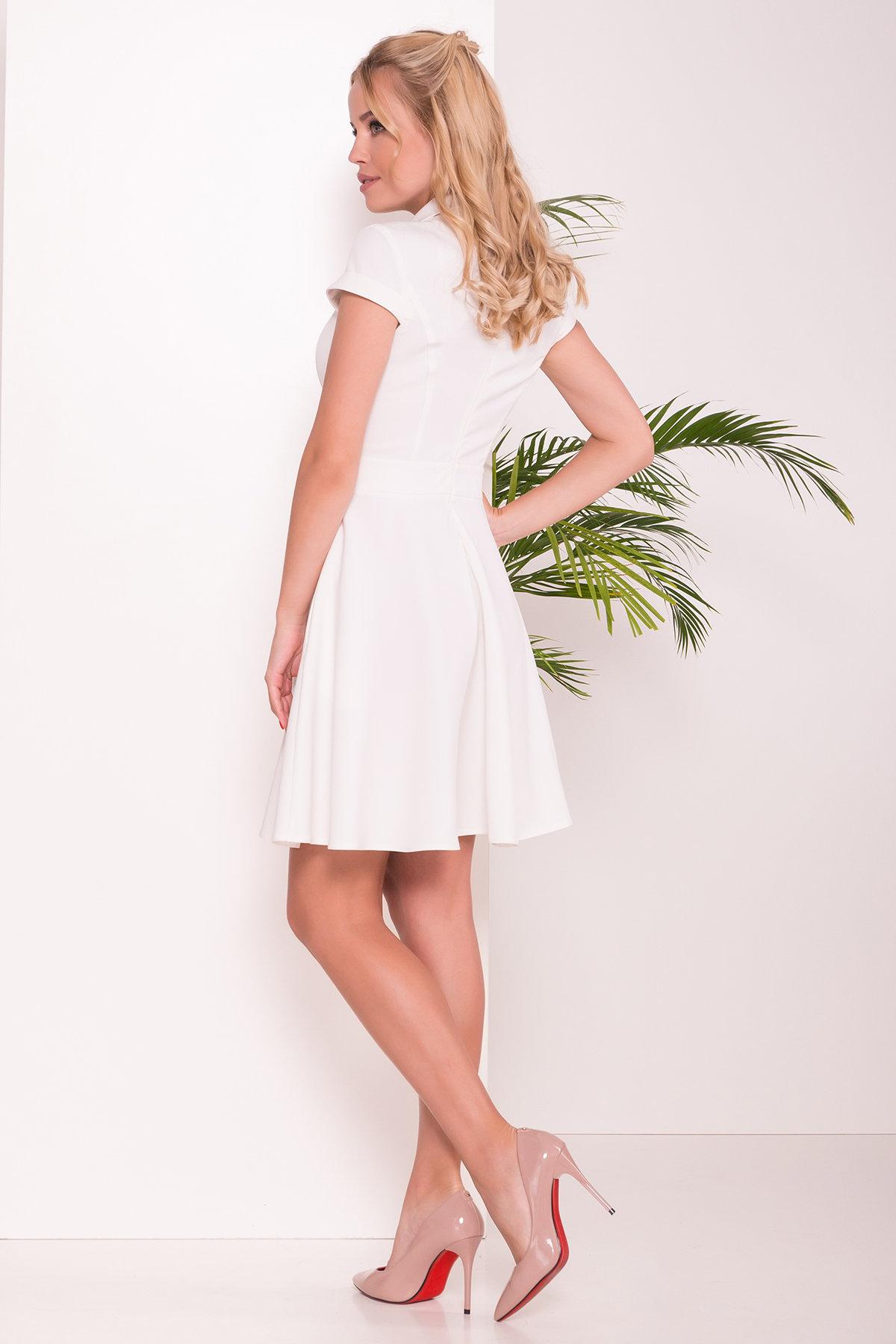 Платье Сиеста 7518 АРТ. 43470 Цвет: Молоко - фото 2, интернет магазин tm-modus.ru