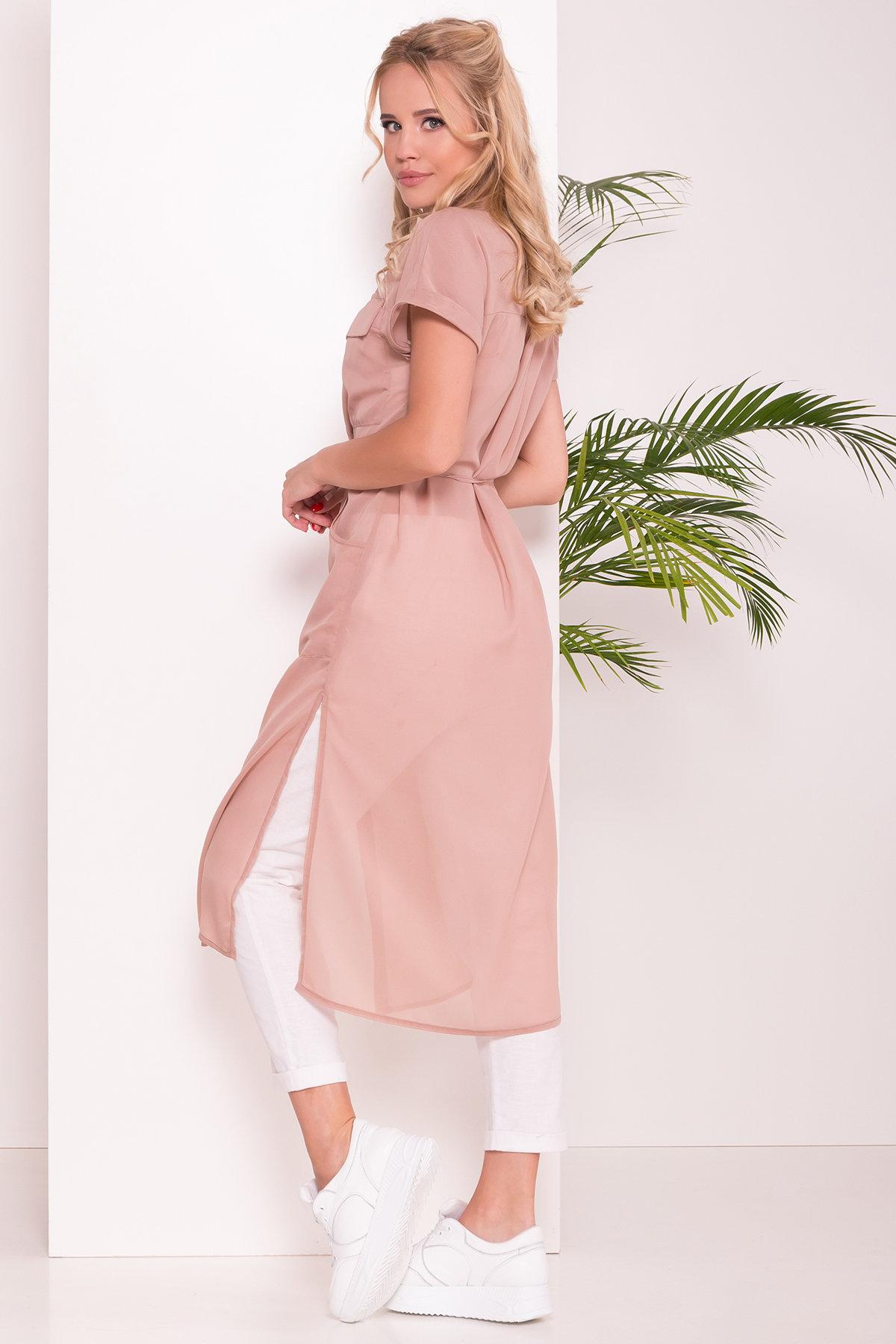 Платье-рубашка Эриал 7544 АРТ. 43467 Цвет: Бежевый - фото 2, интернет магазин tm-modus.ru