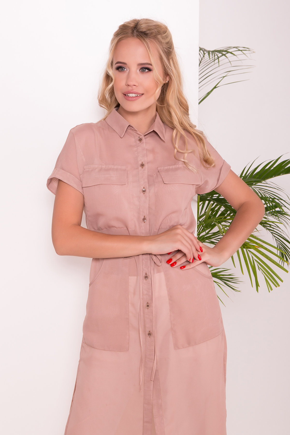 Платье-рубашка Эриал 7544 АРТ. 43467 Цвет: Бежевый - фото 3, интернет магазин tm-modus.ru