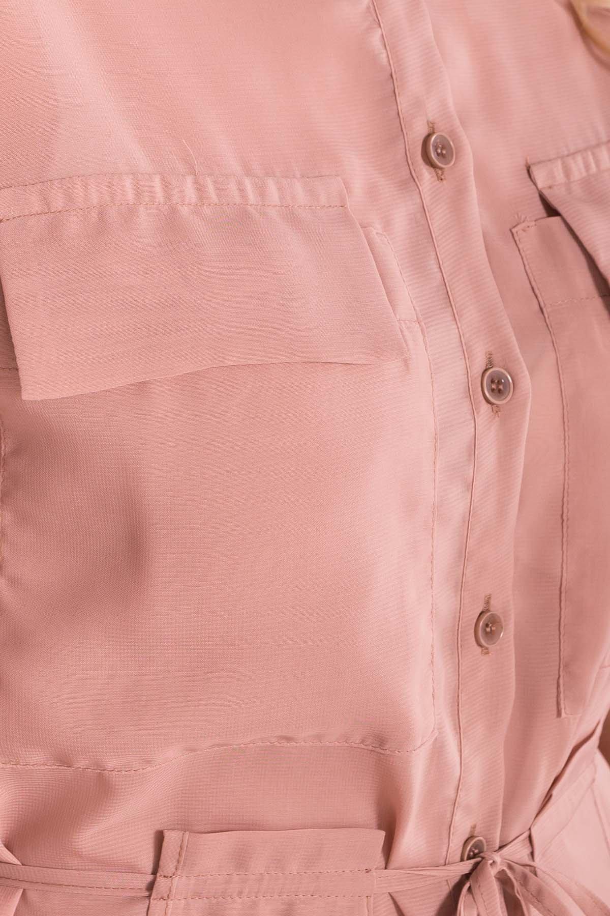 Платье-рубашка Эриал 7544 АРТ. 43467 Цвет: Бежевый - фото 4, интернет магазин tm-modus.ru