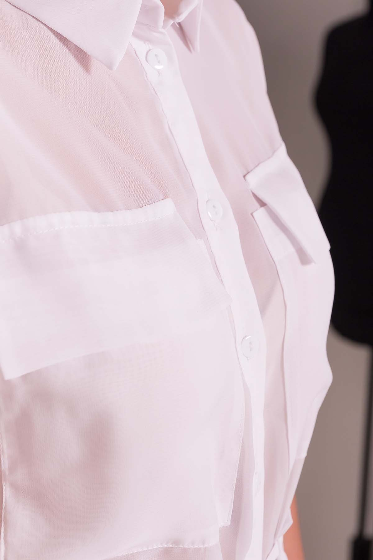 Платье-рубашка Эриал 7544 Цвет: Белый