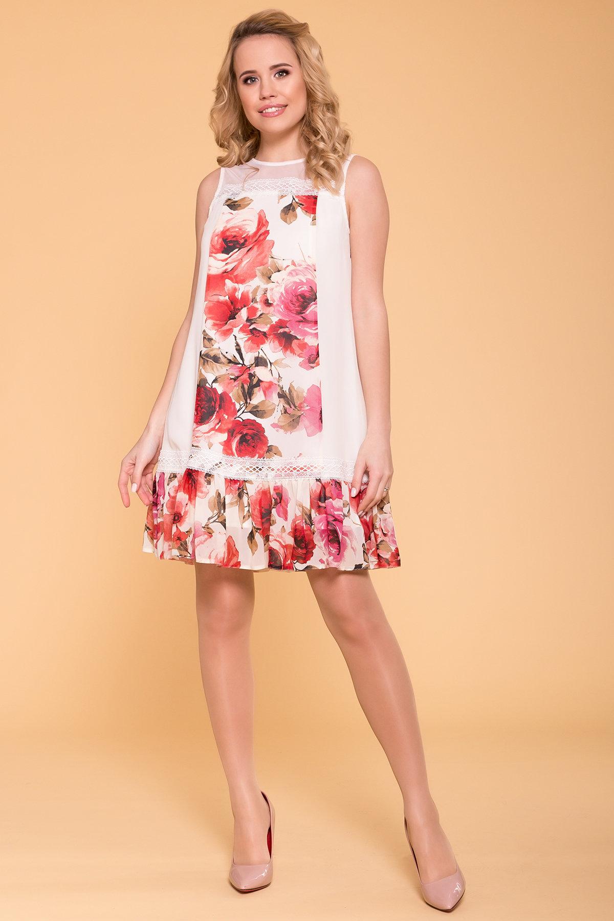 летние платья из шифона Платье  Инга 6914