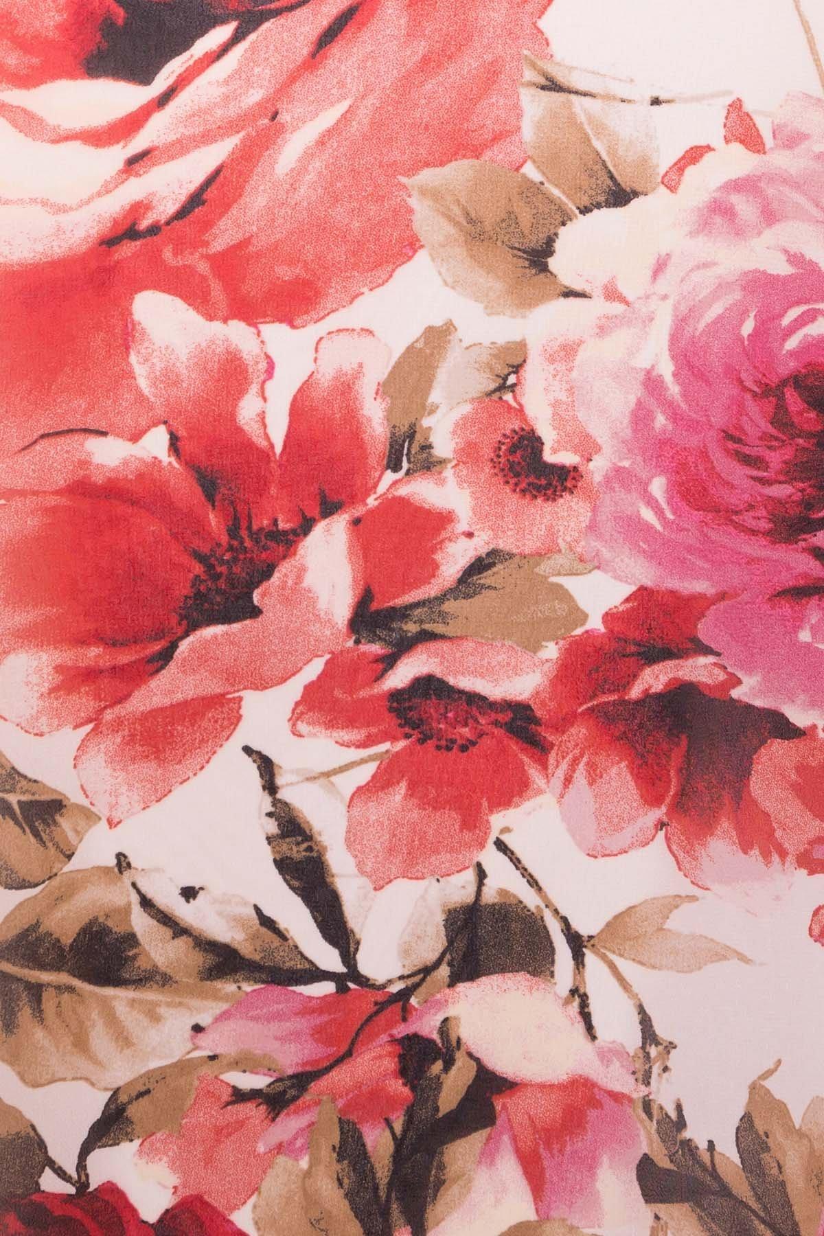 Платье  Инга 6914 АРТ. 43265 Цвет: Розы молоко/красный - фото 4, интернет магазин tm-modus.ru