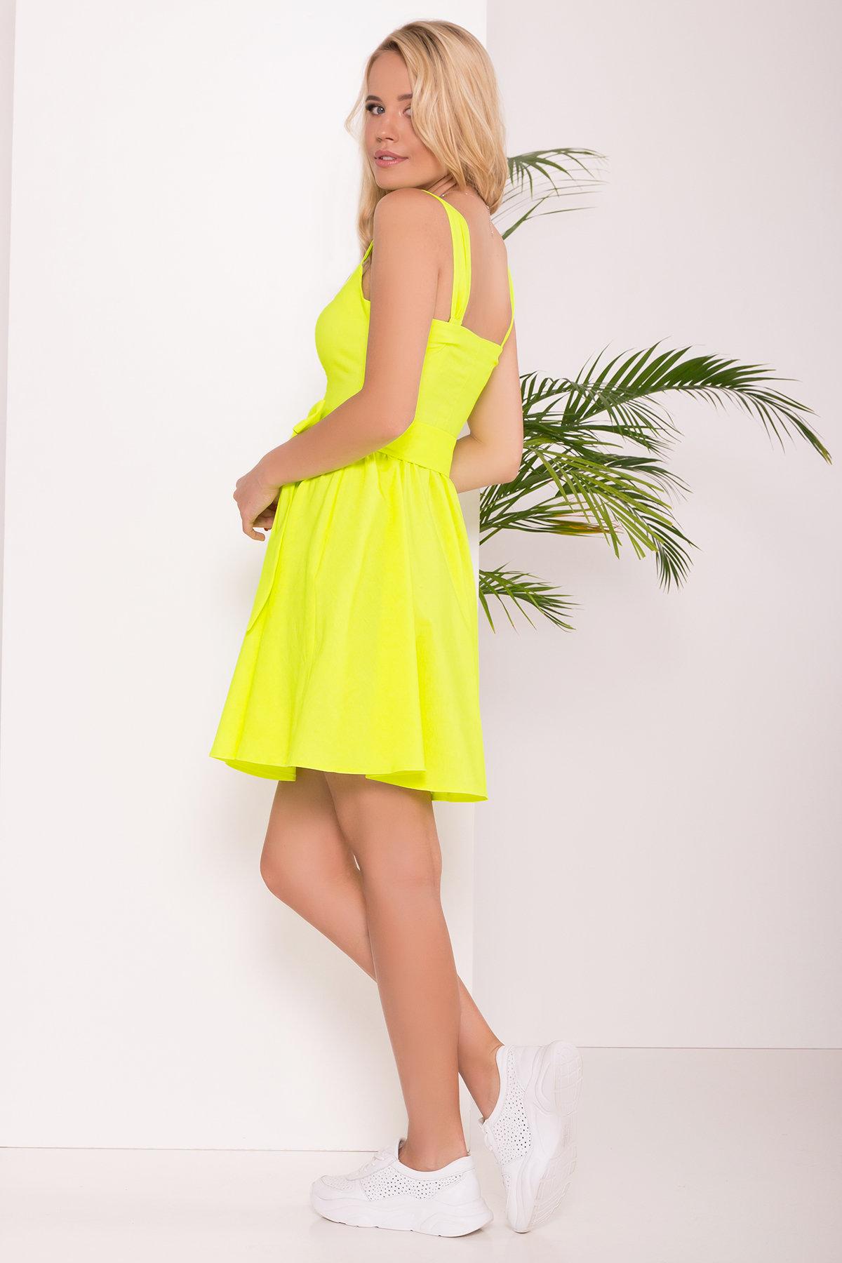 Платье Луиджи 7404 АРТ. 43508 Цвет: Лимон - фото 2, интернет магазин tm-modus.ru