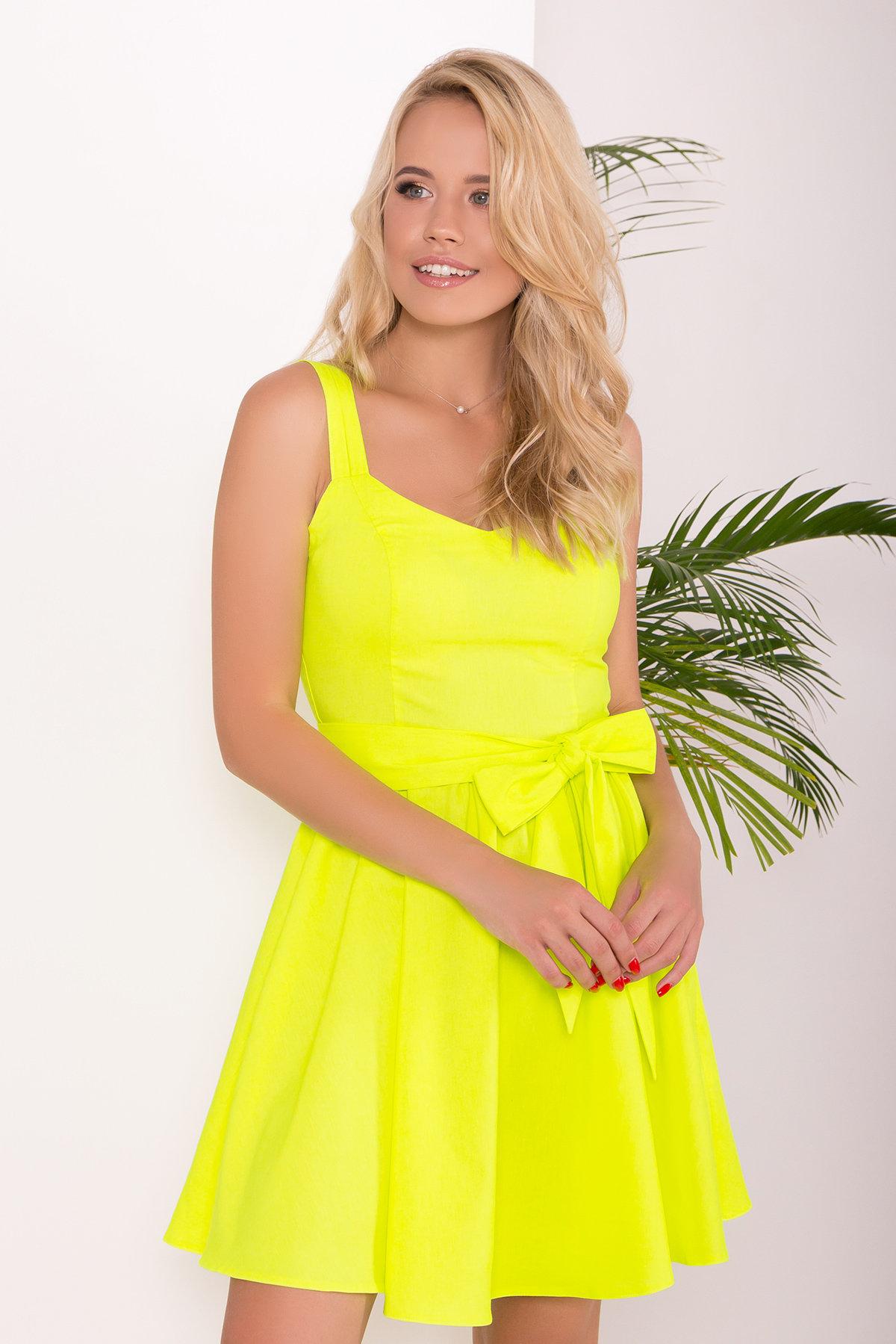 Платье Луиджи 7404 АРТ. 43508 Цвет: Лимон - фото 3, интернет магазин tm-modus.ru