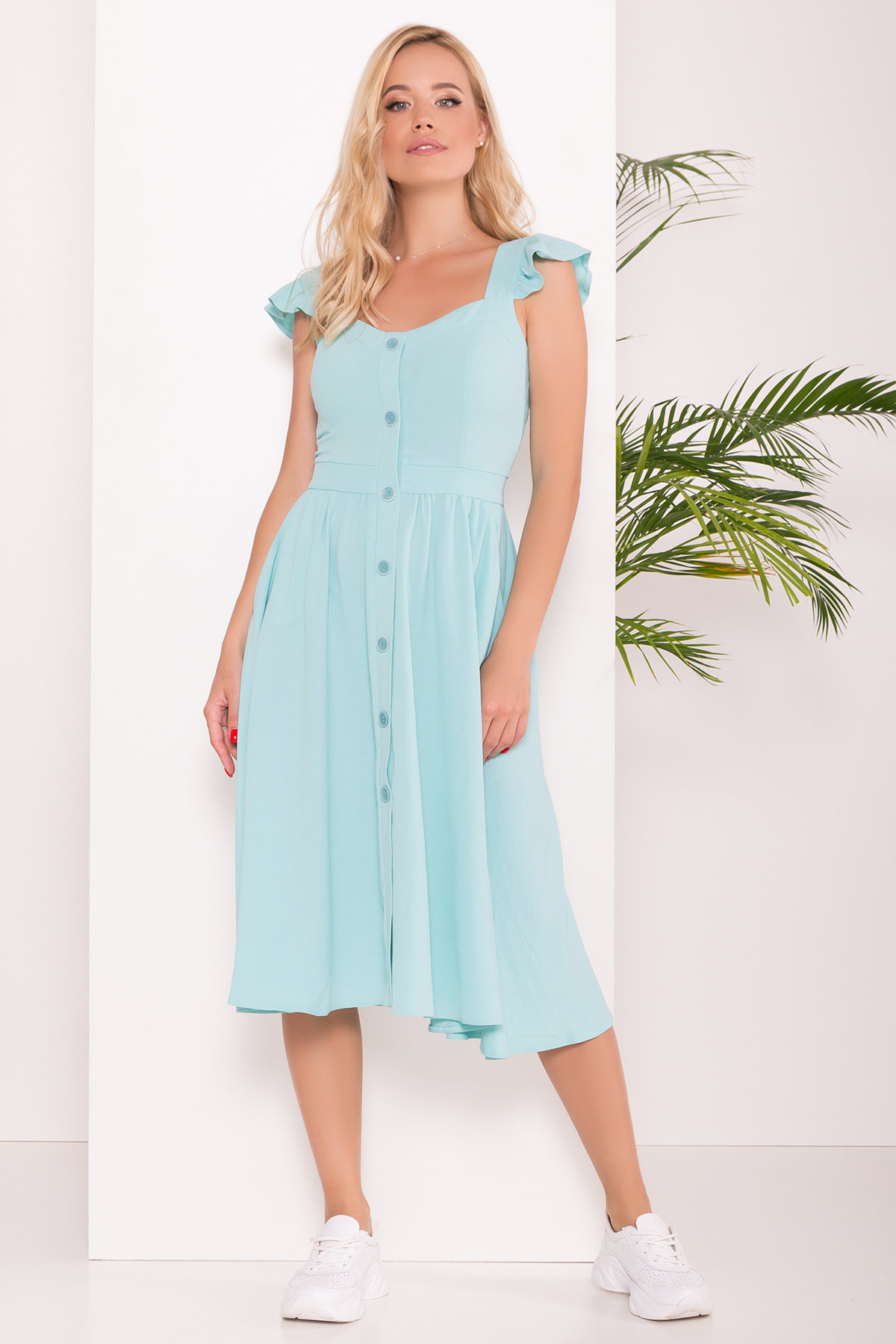 Платье Ундина 7410 АРТ. 43412 Цвет: Мята 10 - фото 2, интернет магазин tm-modus.ru
