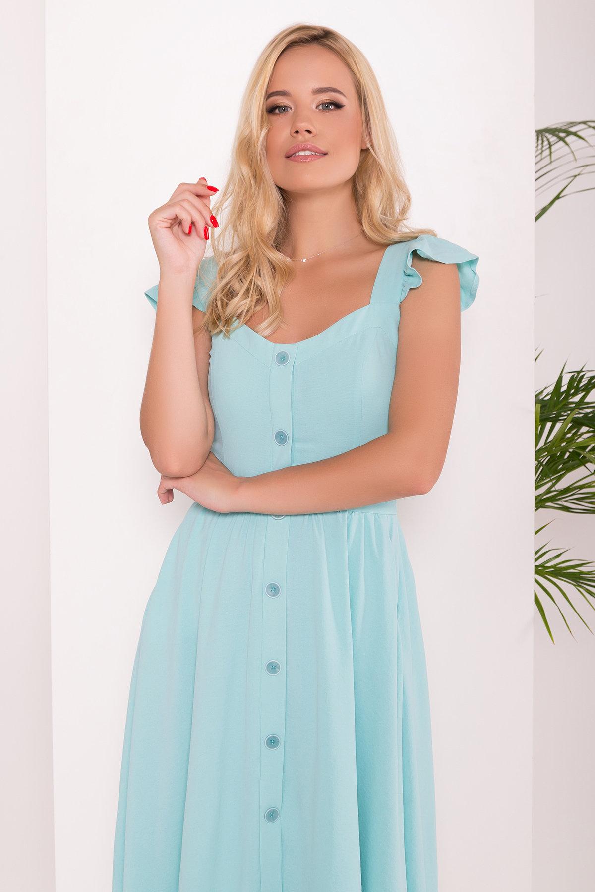 Платье Ундина 7410 АРТ. 43412 Цвет: Мята 10 - фото 3, интернет магазин tm-modus.ru