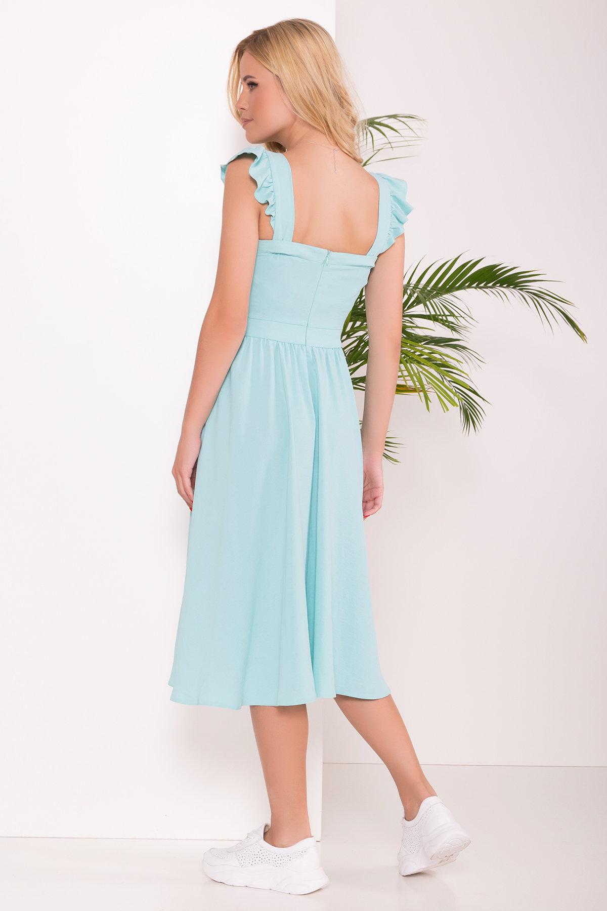 Платье Ундина 7410 АРТ. 43412 Цвет: Мята 10 - фото 4, интернет магазин tm-modus.ru