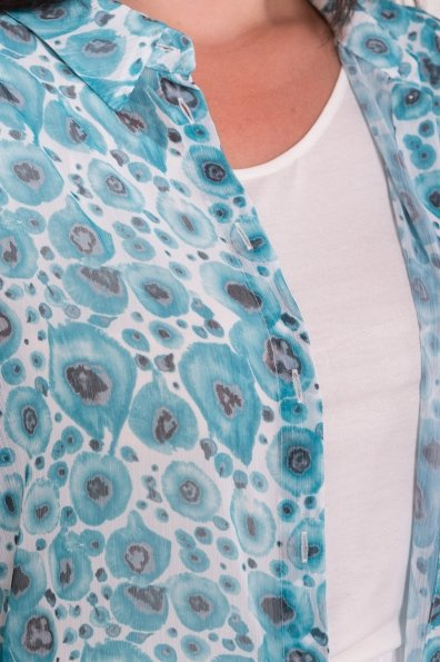 Костюм тройка Аланья Donna 7567 Цвет: Маки Бирюза/мол/бел