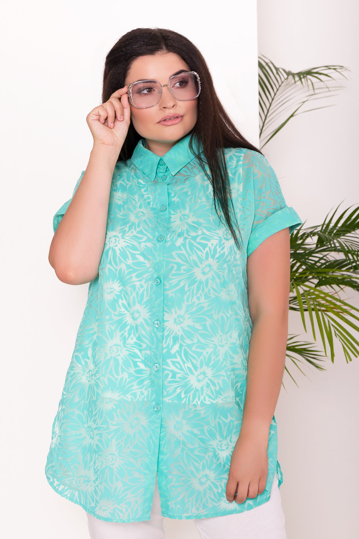 Комплект рубашка   майка  Аланья Donna 7579 АРТ. 43512 Цвет: Мята - фото 2, интернет магазин tm-modus.ru