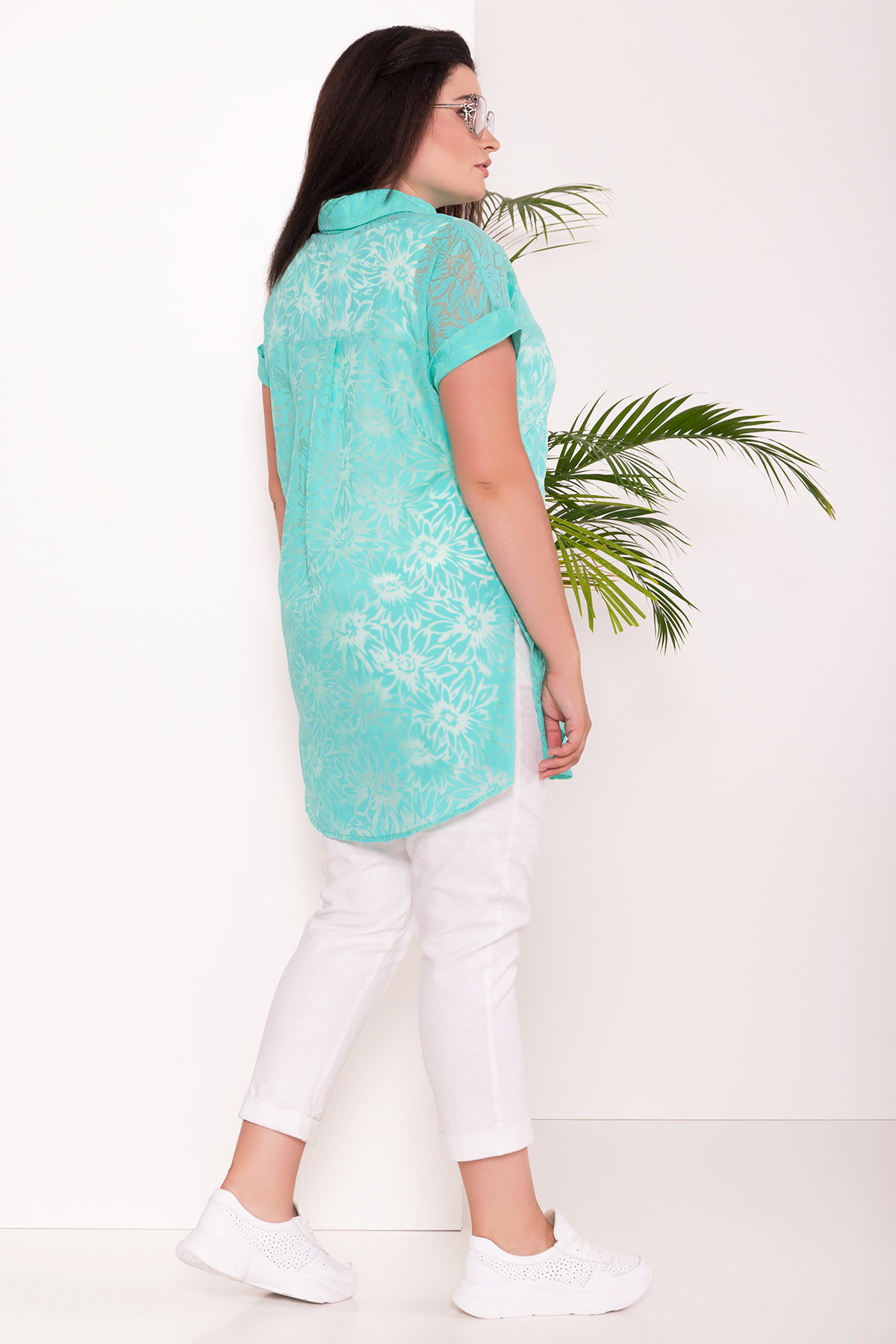 Комплект рубашка   майка  Аланья Donna 7579 АРТ. 43512 Цвет: Мята - фото 3, интернет магазин tm-modus.ru