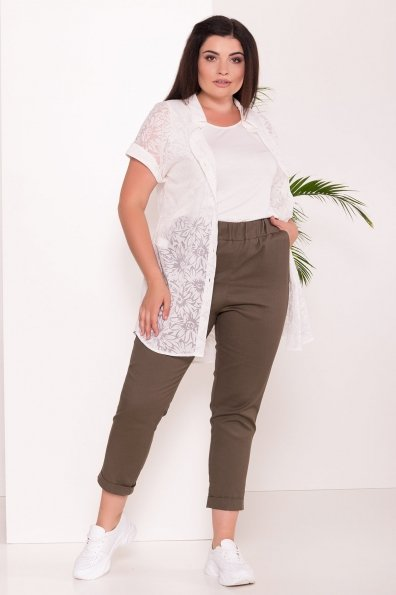 Комплект рубашка   майка  Аланья Donna 7579 Цвет: Молоко