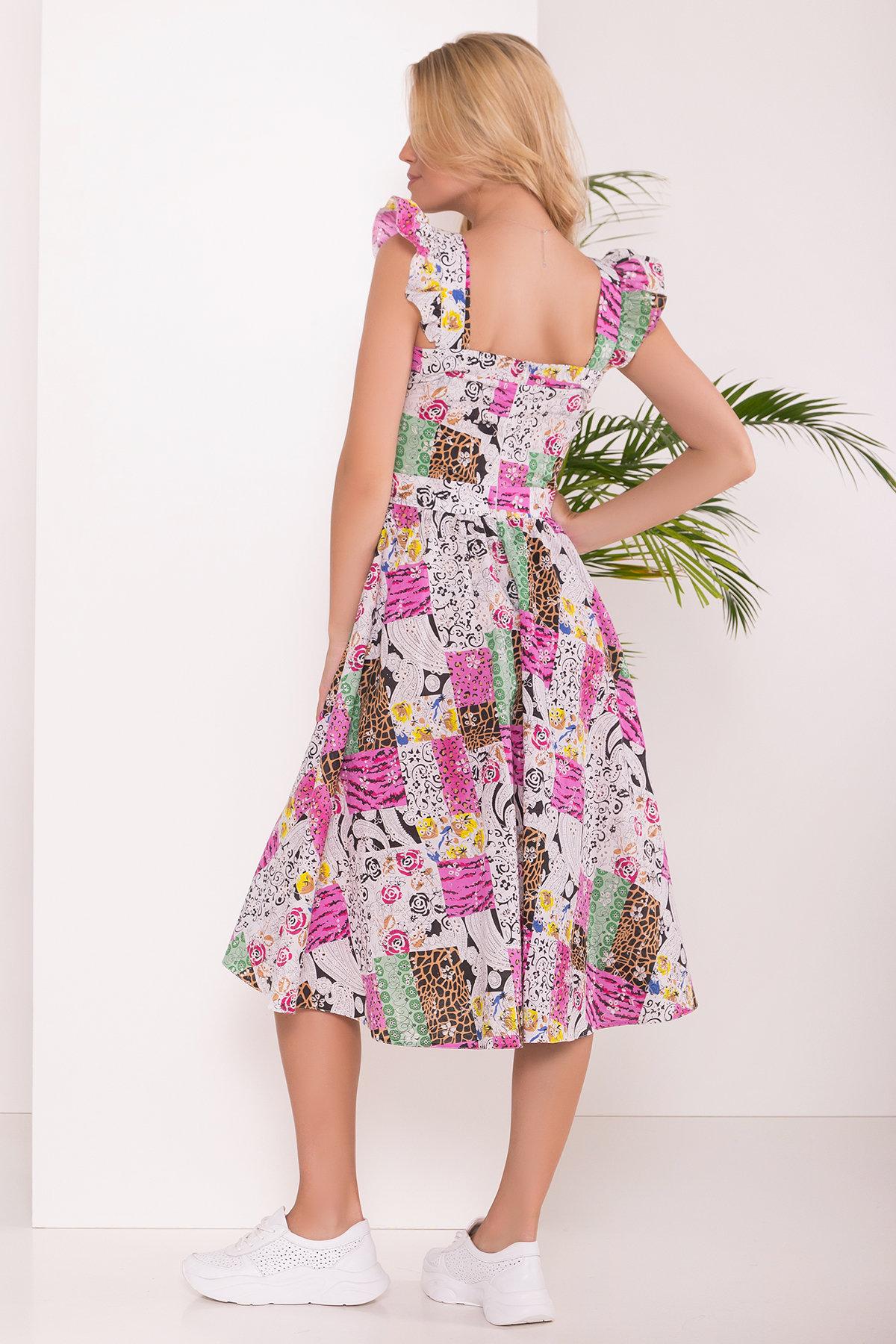 Платье ниже колена Ундина 7628 АРТ. 43551 Цвет: Жираф - фото 2, интернет магазин tm-modus.ru