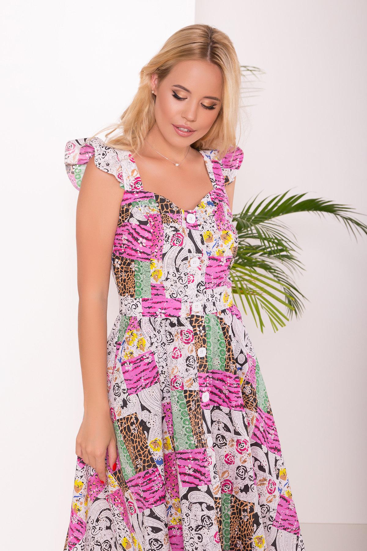 Платье ниже колена Ундина 7628 АРТ. 43551 Цвет: Жираф - фото 3, интернет магазин tm-modus.ru