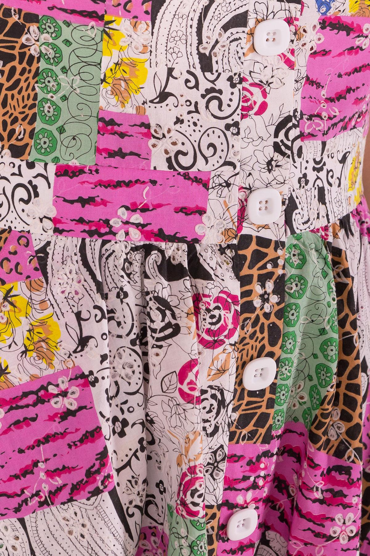 Платье ниже колена Ундина 7628 АРТ. 43551 Цвет: Жираф - фото 4, интернет магазин tm-modus.ru