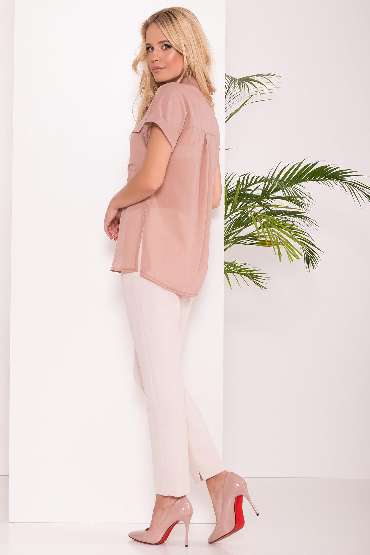 Шифоновая Рубашка Айра 7456 АРТ. 43420 Цвет: Бежевый - фото 2, интернет магазин tm-modus.ru