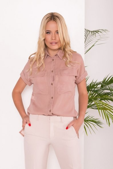 Шифоновая Рубашка Айра 7456 Цвет: Бежевый