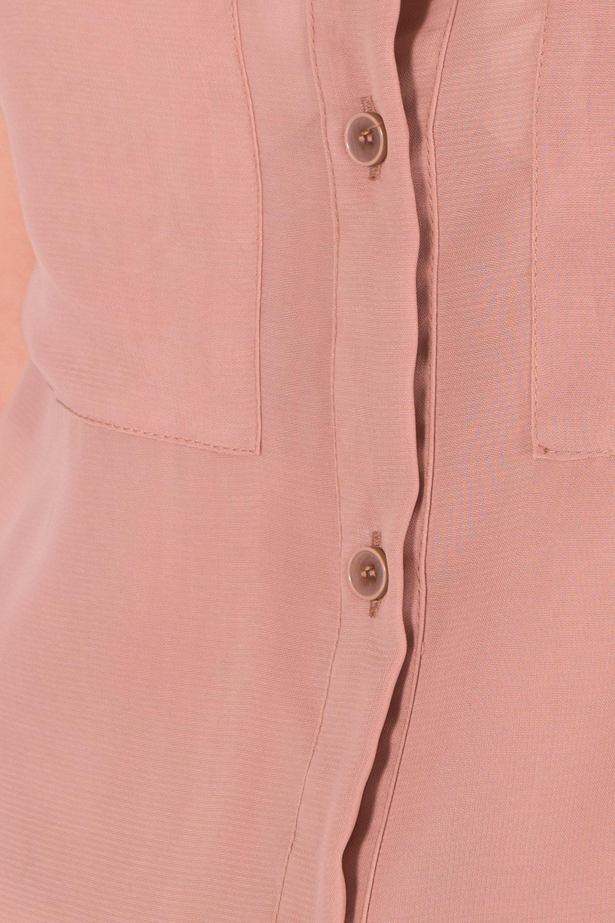 Шифоновая Рубашка Айра 7456 АРТ. 43420 Цвет: Бежевый - фото 4, интернет магазин tm-modus.ru
