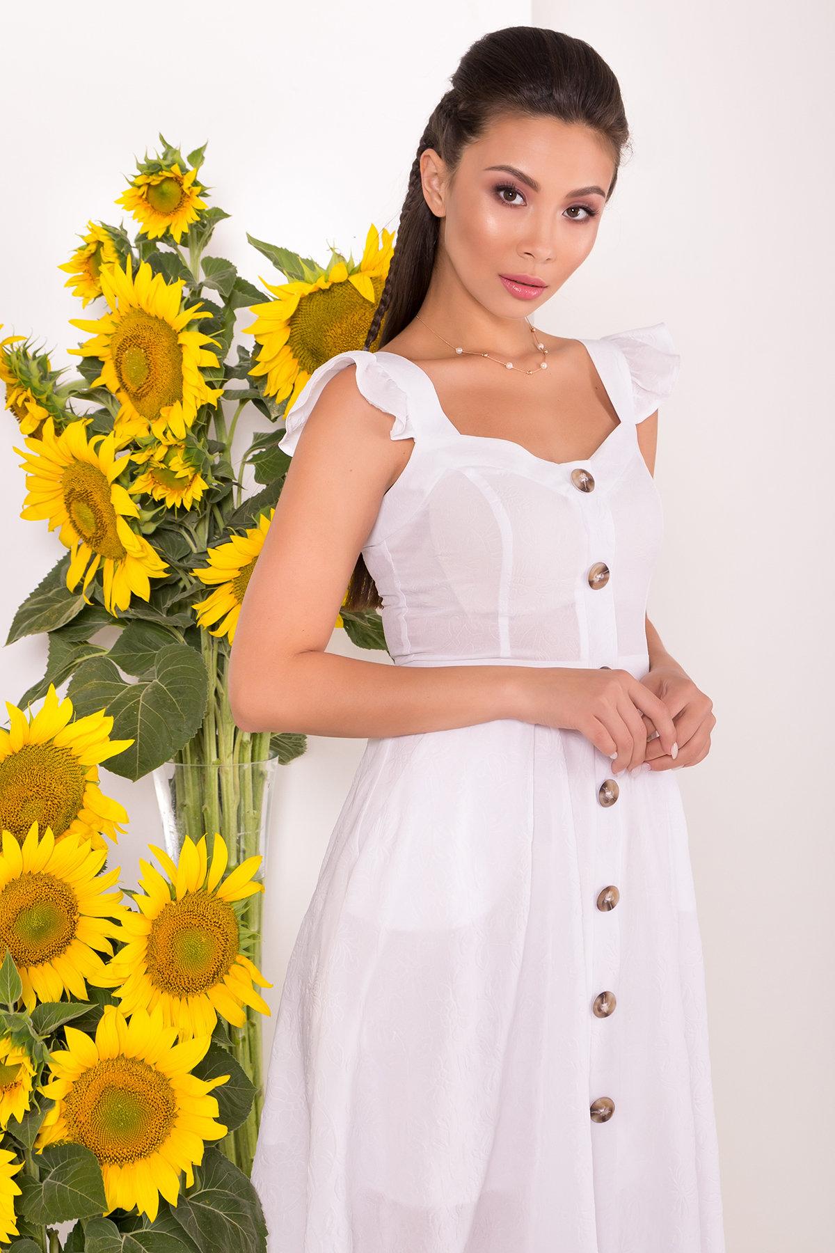 Платье Ундина 7587 АРТ. 43530 Цвет: Белый - фото 3, интернет магазин tm-modus.ru