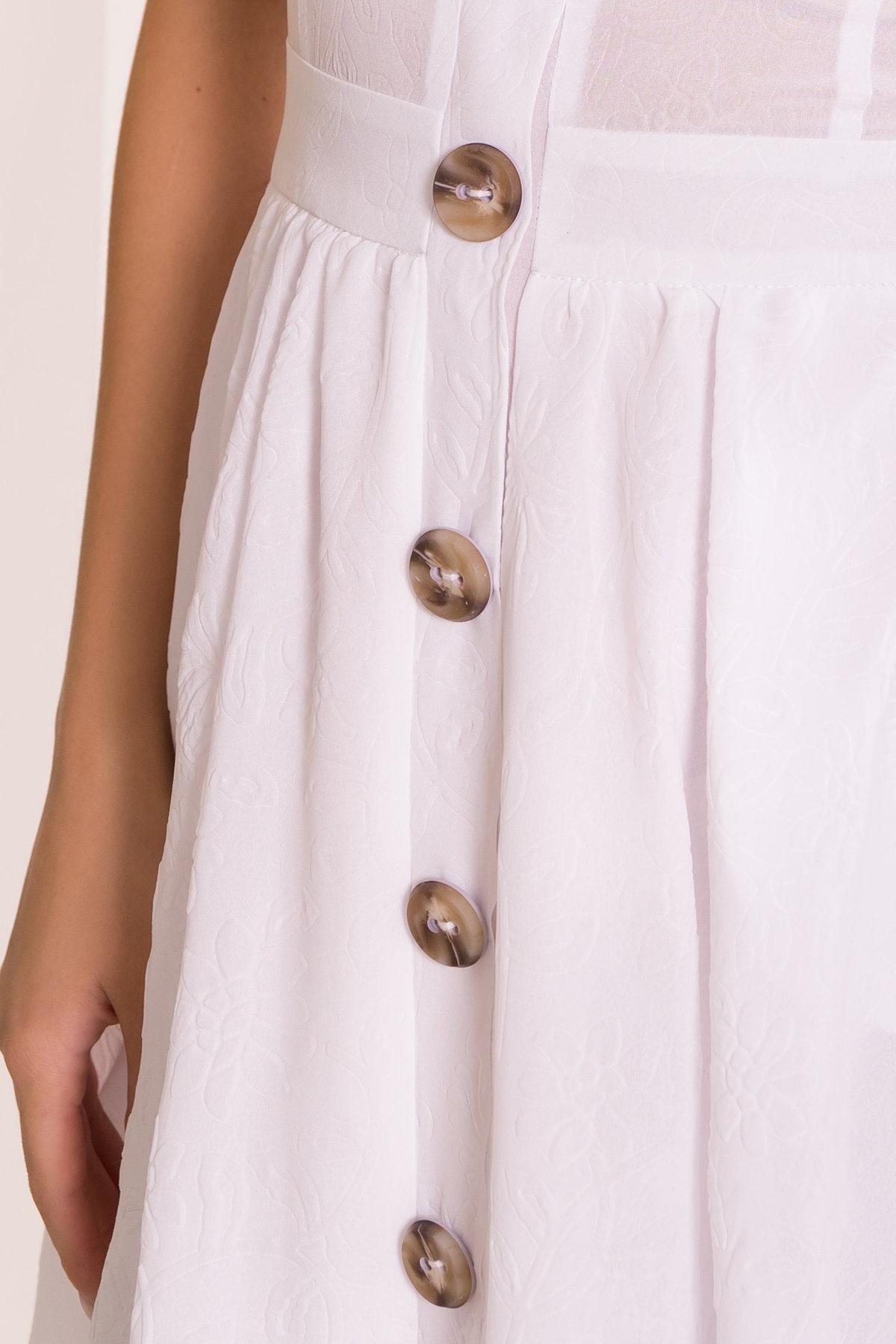 Платье Ундина 7587 АРТ. 43530 Цвет: Белый - фото 4, интернет магазин tm-modus.ru