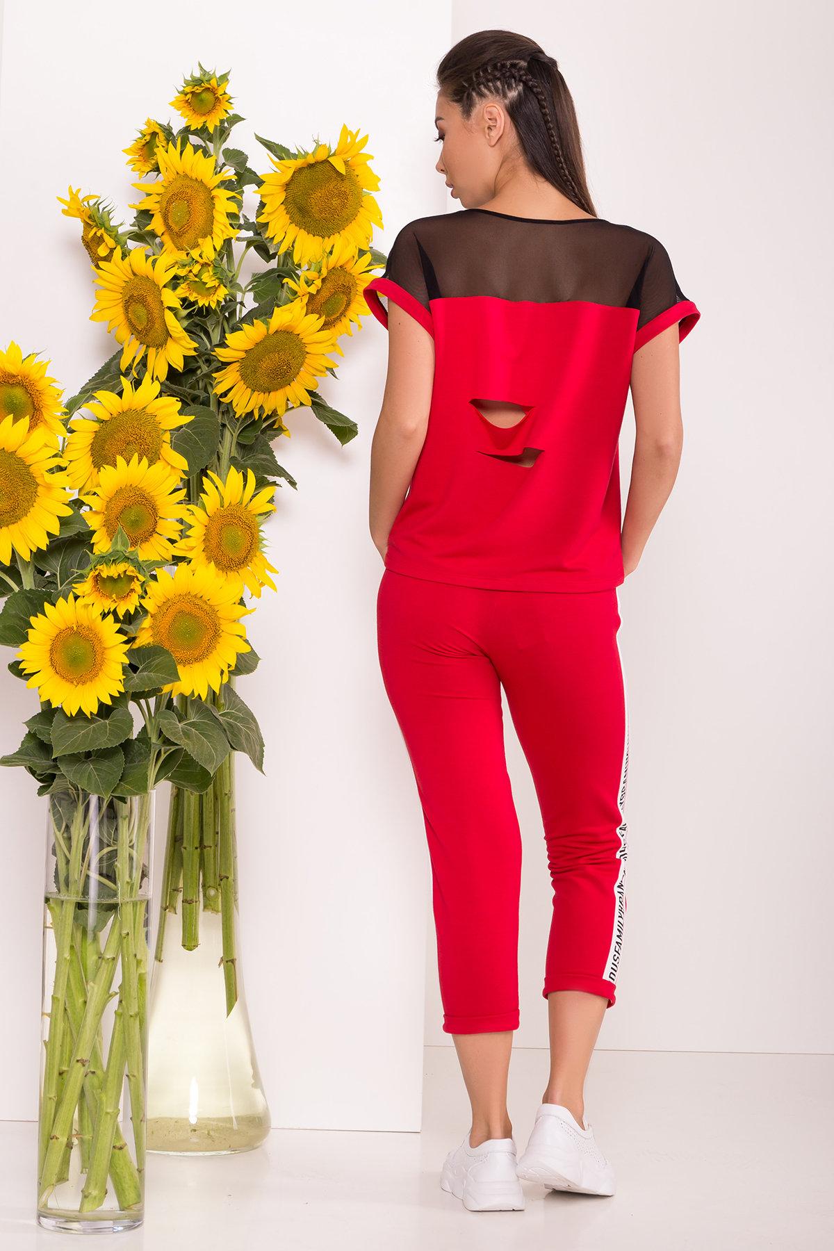 Костюм Кари 7546 Цвет: Красный/молоко/чёрный