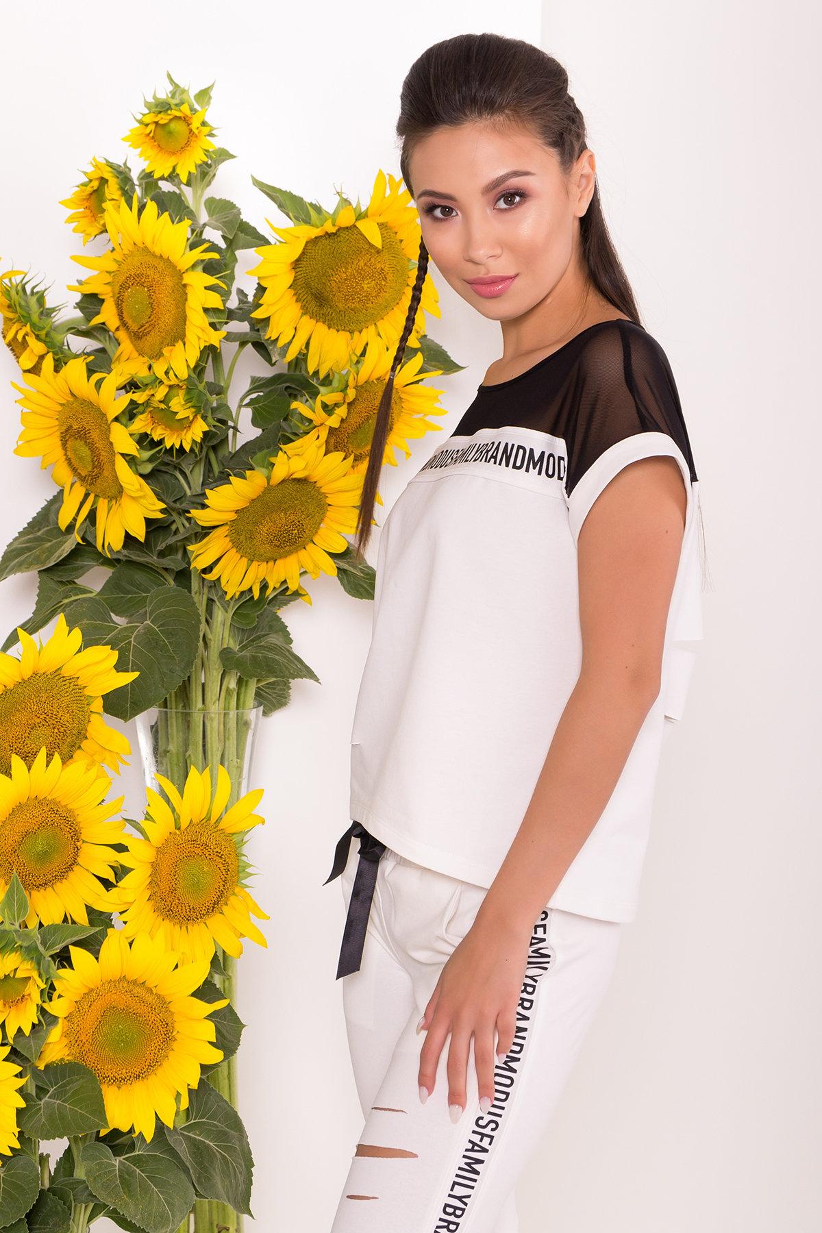 Костюм Кари 7546 АРТ. 43517 Цвет: Молоко/черный - фото 3, интернет магазин tm-modus.ru