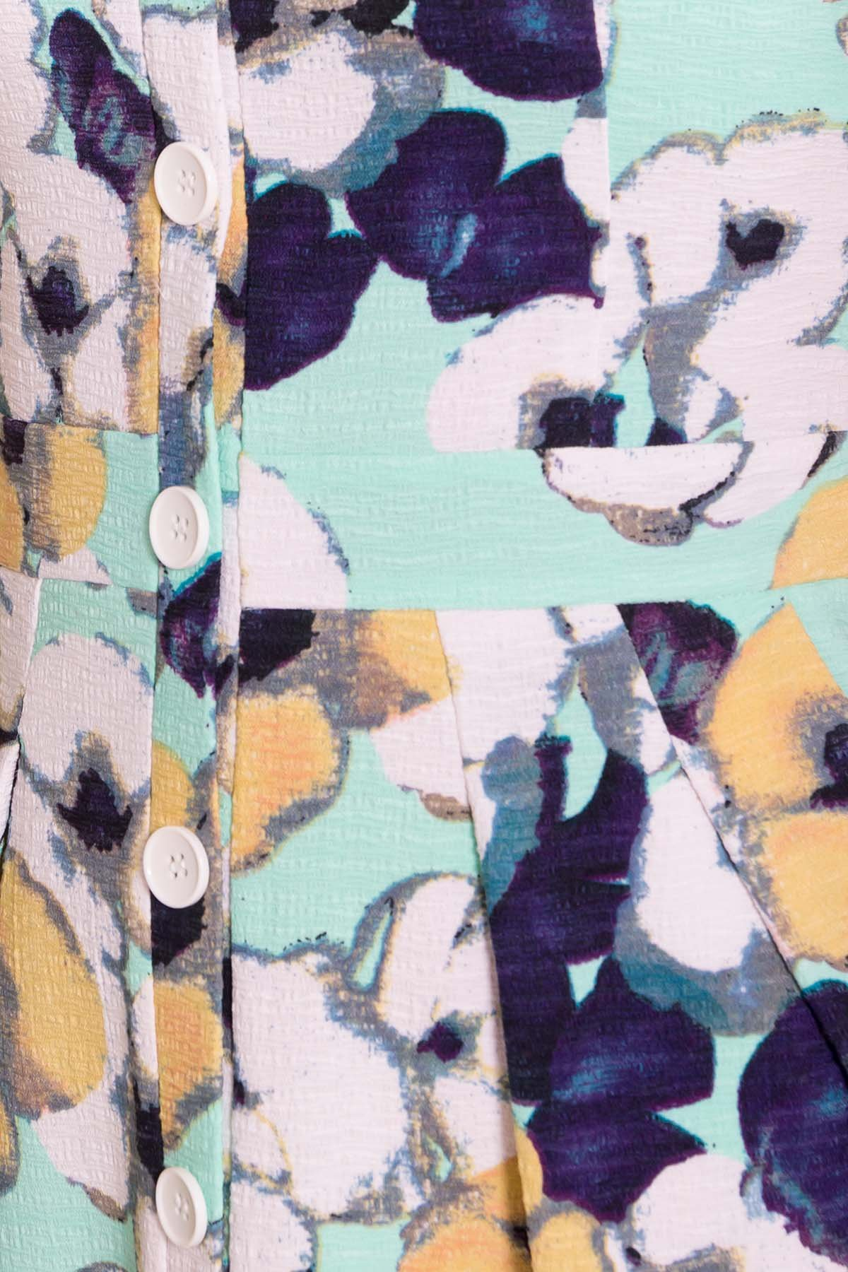 Платье Марсель 7612 АРТ. 43538 Цвет: Ромашка бирюза больш - фото 4, интернет магазин tm-modus.ru